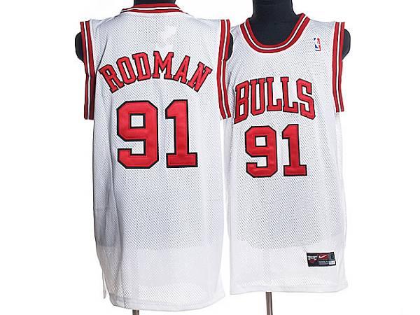 Dennis Rodman #91 Chicago Bulls Jersey White